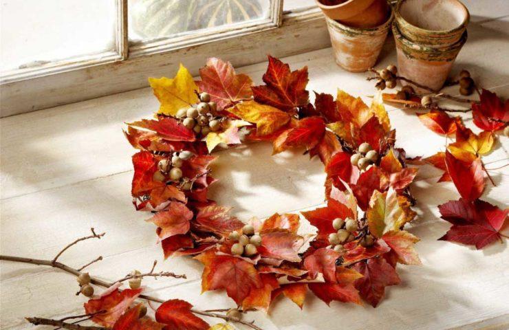 Цветы и листья в интерьере