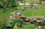 Украшение сада с помощью камня
