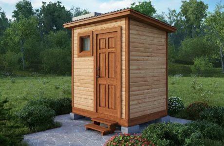 Купить деревянный туалет для дачи