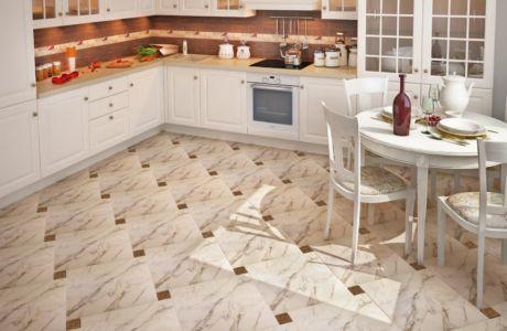 Выбор пола в кухню: плитка или ламинат?