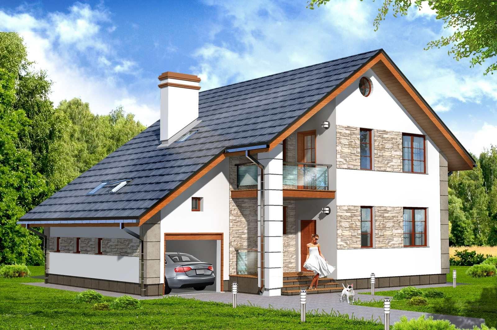 Преимущества домов с мансардой