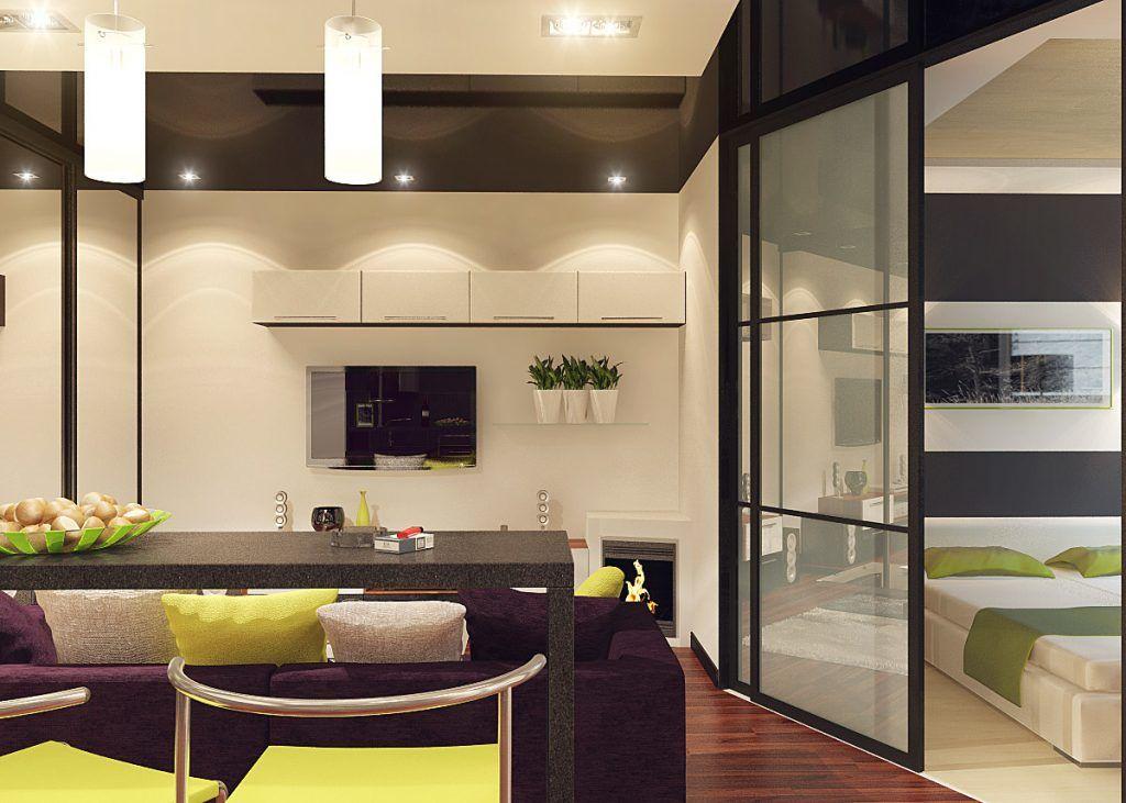 Как совместить спальню и кухню?